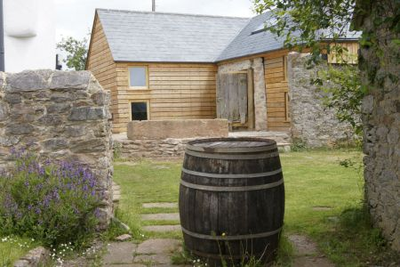 Orchard Barn House With Barrel