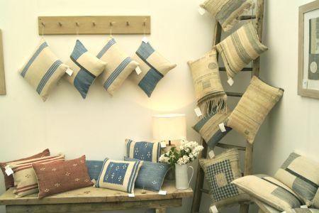 Cushions On Display At Craft Fair