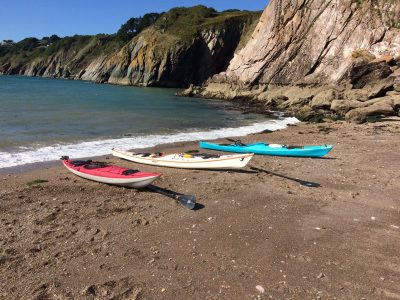 Secret beach sea kayaking holidays